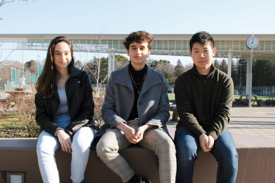 Bar Savion, Ryan Elferink, Leo Lee (from left) are members of the senior class that will be heading to the military following their graduation from ASIJ.