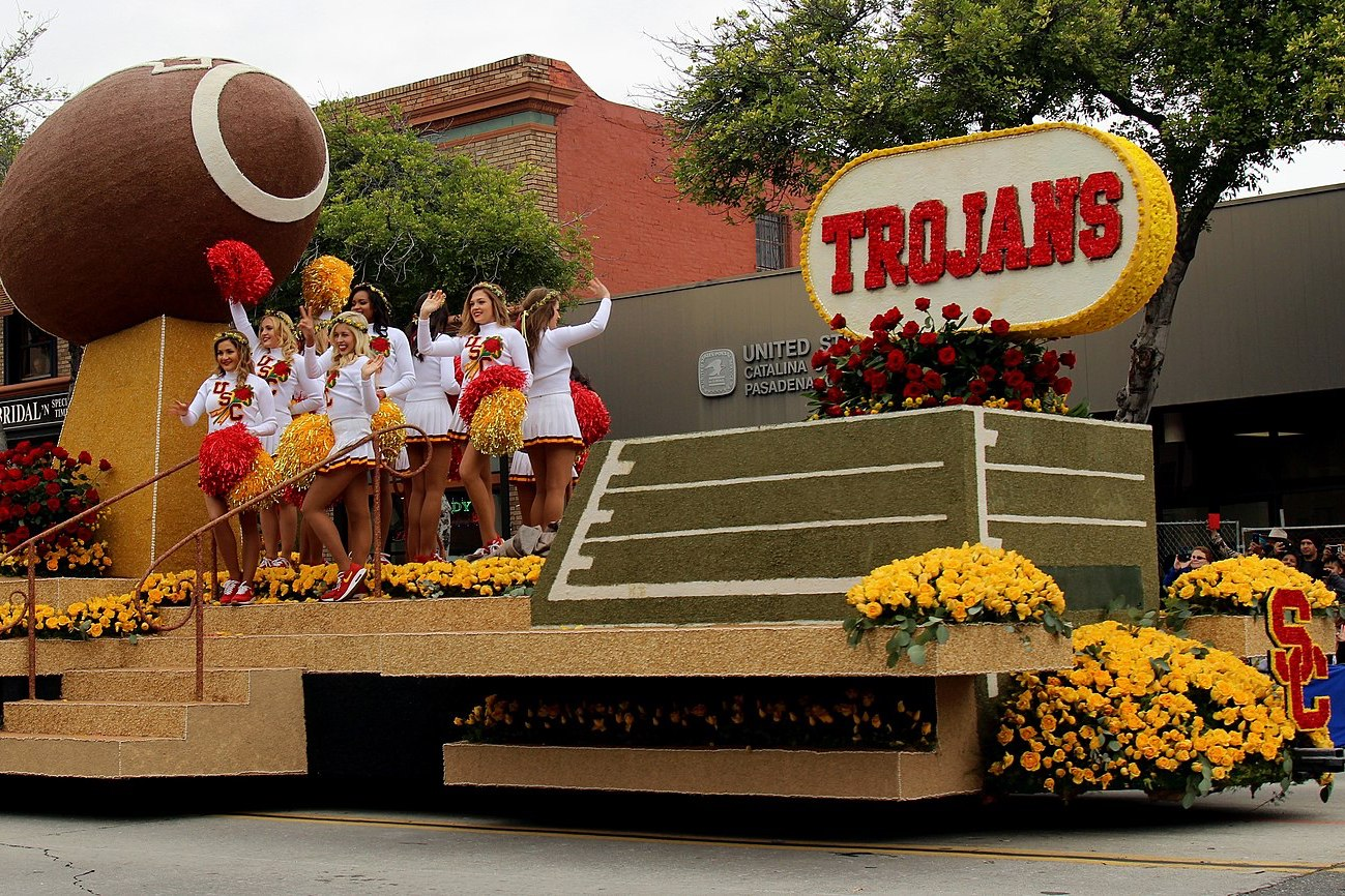 Cheerleaders at the University of Southern California, a university involved in Operation Varsity Blues.